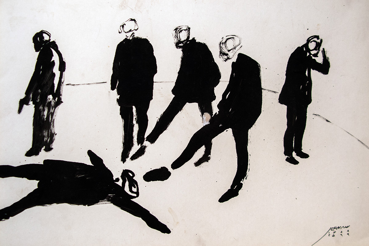 Armin Ebrahimi, Untitled, mixed media on cardboard, 40x60 cm, 2009